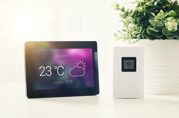 Weather station with LCD display